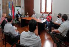 Marcelo Richard con intendentes de Paraná, San Benito, Oro Verde y Colonia Avellaneda