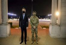 """El ministro de Defensa, Agustín Rossi, sostuvo que hay voluntarios en las Fuerzas Armadas, pero """"el laboratorio per se tiene más de quince mil voluntarios anotados""""."""
