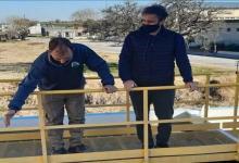 Juan Rossi visitó la planta de agua de Valle María