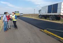 Autoridades de Vialidad supervisaron los avances de la obra de pavimentación de la Ruta Provincial N° 51 en el Departamento Gualeguaychú.