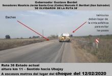 San Salvador: alertan por el estado de la Ruta Provincial N° 38