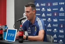 Fútbol: Lionel Scaloni confirmó el equipo para enfrentar a Chile