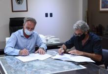 Darío Schneider con Gustavo Reitano