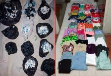 ropa y droga incautada
