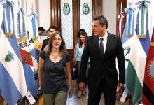 La ministra de Seguridad de la Nación, Sabina Frederic, fue recibida ayer en la Cámara de Diputados por el titular de ese cuerpo, Sergio Massa