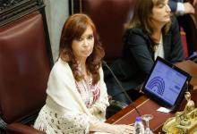 Cristina Kirchner en una de las sesiones que presidió en el Senado.