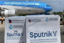 Imagen de archivo de una de las llegadas de dosis de vacunas Sputnik a la Argentina.