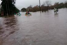 Hubo familias evacuados por las lluvias en Rosario del Tala.