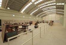 El taller Antequeda en Bajada Grande está siendo reacondicionado para volver a fabricar mobiliario escolar.