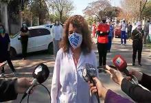 directora Hospital de Colón y trabajadores