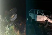 El siniestro vial entre un auto y un tractor ocurrió hoy de madrugada en un camino vecinal, a mil metros del acceso a la localidad de Villa Clara (Departamento Villaguay).