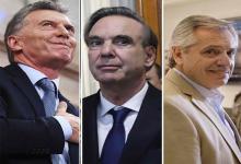 Macri, Pichetto y Fernández.