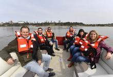 En la recorrida el gobernador Gustavo Bordet estuvo acompañado por la ministra de Desarrollo Social, Laura Stratta, y la secretaria de Turismo, Carolina Gaillard.