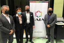Sergio Urribarri, Galit Ronen, Jorge Knoblovits y Jorge Diener.