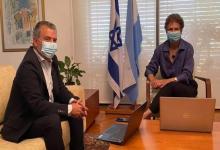 Embajador Sergio Urribarri y su par israelí en Argentina, Galit Ronen
