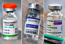 Las vacunas de Sinopharm, Sputnik V y Astra Zeneca