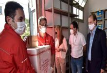 Bordet y Velázquez reciben vacunas Covid en la Base Aérea
