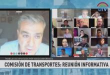 El diputado José Cano encabezó la sesión virtual de la Comisión de Transporte