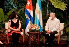 Carla Vizzotti con Díaz-Canel en Cuba