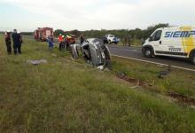 El siniestro vial se produjo en inmediaciones del kilómetro 341 de la Autovía Gervasio Artigas.