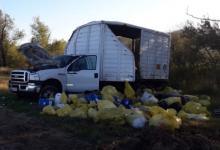 Volcó un camión que iba cargado con residuos patológicos