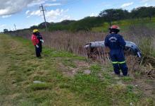 El vuelco se produjo en el kilómetro 7 de la RN 14.