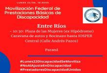 movilización federal prestaciones discapacidad
