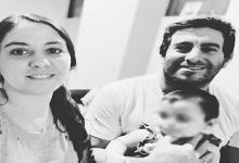 Ayelén Acosta y su esposo