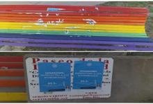 """vandalismo """"pro vida"""" en el Paseo de la Diversidad Paraná"""