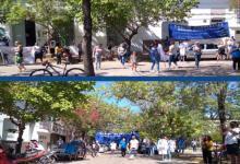 En el marco del paro, Agmer Uruguay se movilizó a la Departamental de Escuelas