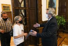 Alberto Fernández recibió a los padres de Úrsula Bahillo