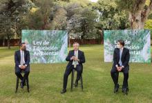 Alberto Fernández ley de Educación Ambiental