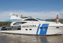 El lujoso yate de Jaime, hoy de domino de la Prefectura Naval Argentina.