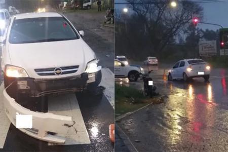 El siniestro vial se registró minutos antes de las 6, en Avenida Almafuerte y calle Antonio Salellas, cerca del acceso al Parque Industrial. Una persona lesionada.