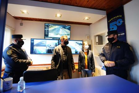 Pusieron en funcionamiento el Centro de Monitoreo de Pueblo Belgrano